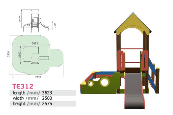 Mänguväljak, liumägi ja liivakast (TE312)