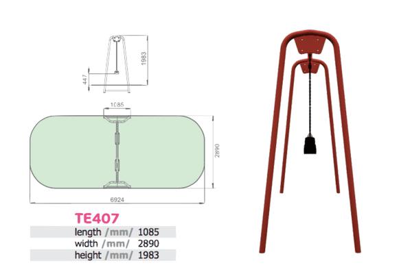 Kahe kiigeistmega metallist kiik (TE407)