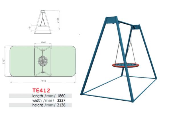 Ühe kiigeistmega metallist kiik (T412)