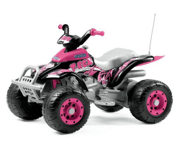 PEG PEREGO® Laste ATV akuga 12V Corral T-Rex roosa