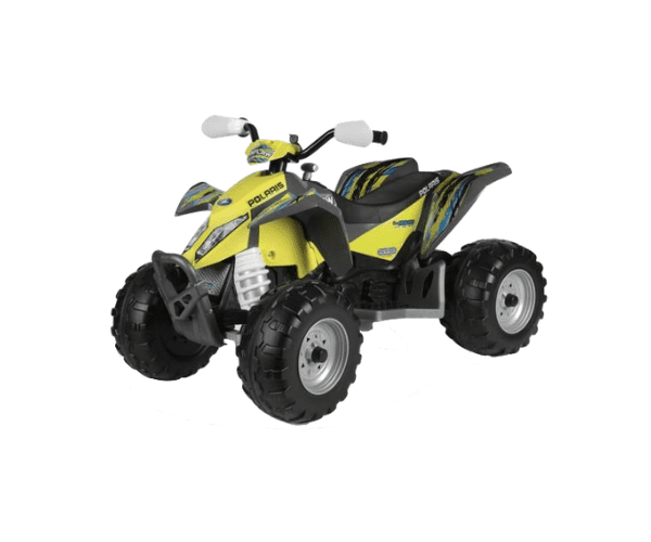 Laste ATV akuga 12V Polaris Outlaw Citrus kollane