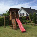 Mänguväljak Beach Hut + kiigemoodul Swing (pruun immutus)