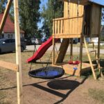 Mänguväljak Beach Hut + kiigemoodul Swing (roheline immutus)