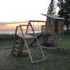 Mänguväljak Beach Hut + ronimismoodul Challenger (roheline immutatud)