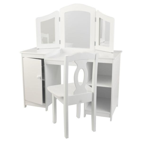 KidKraft meigilaud ja tool lastele 'Deluxe' valge