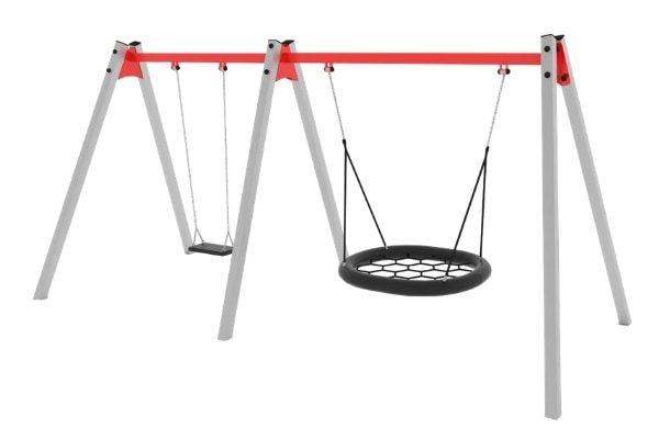 Pesakiige ja kiigeistmega puidust kiik Swing ST1492