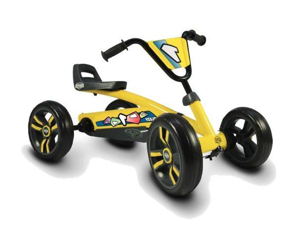 Pedaalidega kartauto Buzzy kollane