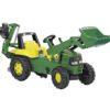 Pedaalidega traktor kopa ja laaduriga Rolly Junior John Deere