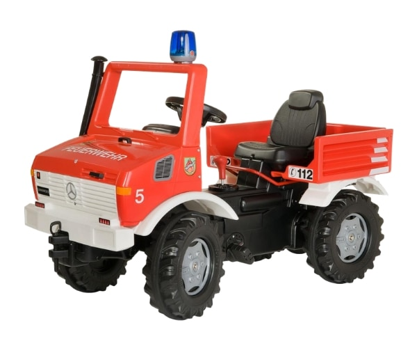 Pedaalidega tuletõrjeauto Rolly Unimog
