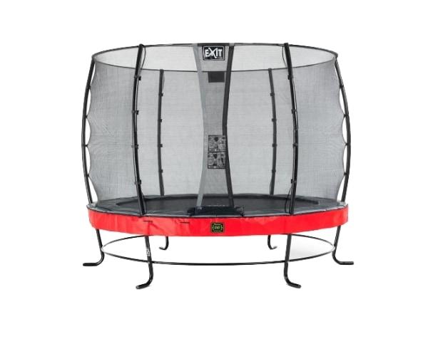 Batuut 'Elegant Premium' Ø305cm + ohutusvõrk Economy ja vedrukate, punane