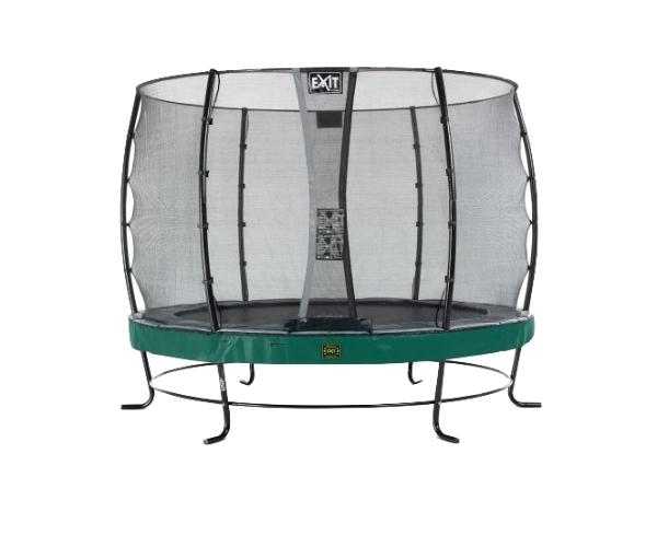 Batuut 'Elegant Premium' Ø305cm + ohutusvõrk Economy, vedrukate ja ankrud 4tk, roheline