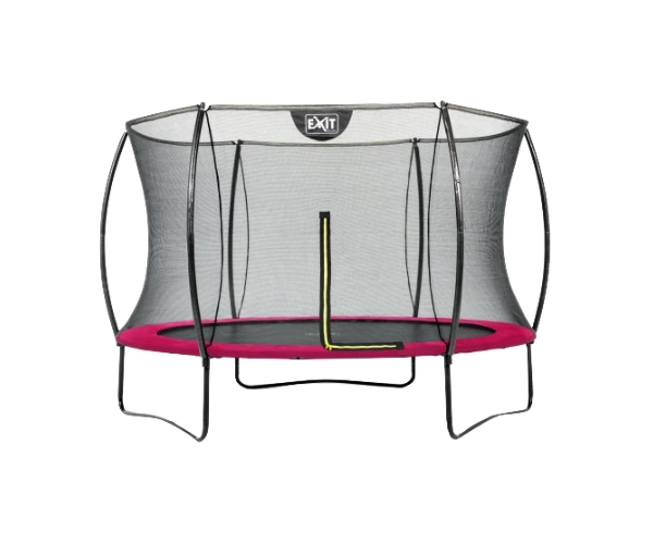 Batuut 'Siluett' Ø305cm + ohutusvõrk ja vedrukate, roosa