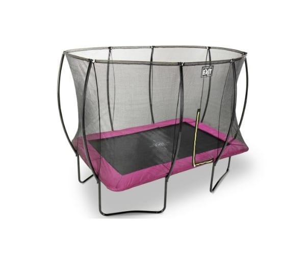 Batuut 'Siluett' 244x366cm + ohutusvõrk Economy ja vedrukate, roosa