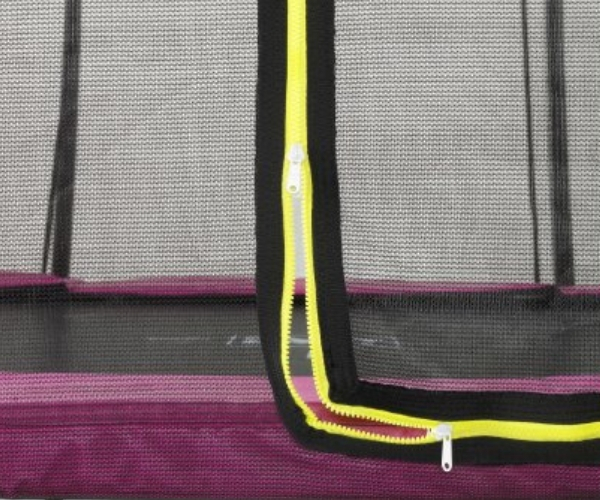 Batuut maapinnale 'Siluett' Ø183cm + ohutusvõrk, vedrukate ja ankrud, roosa