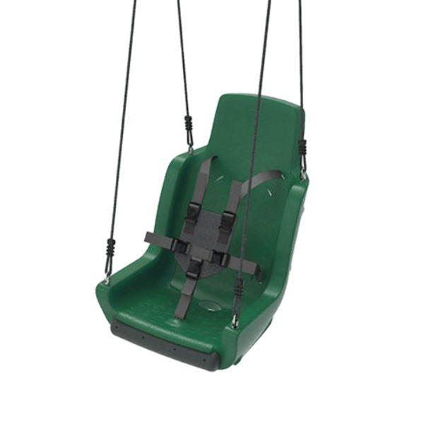 Kiigeiste erivajadustega lastele turvarihmadega 'Chainset' roheline