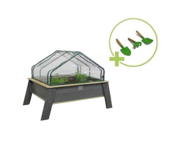 Laste taimekasvatuse laud + kasvuhoone (94x138 cm)