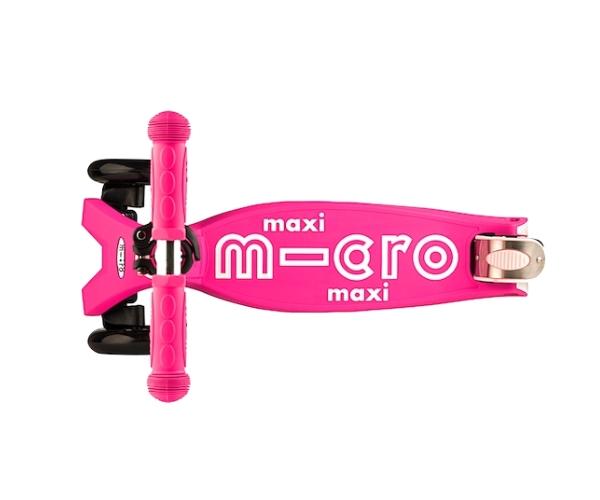 Laste tõukeratas Micro Maxi Deluxe (roosa), lastele 5-12 aastat