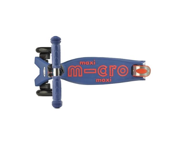 Laste tõukeratas Micro Maxi Deluxe (sinine), lastele 5-12 aastat