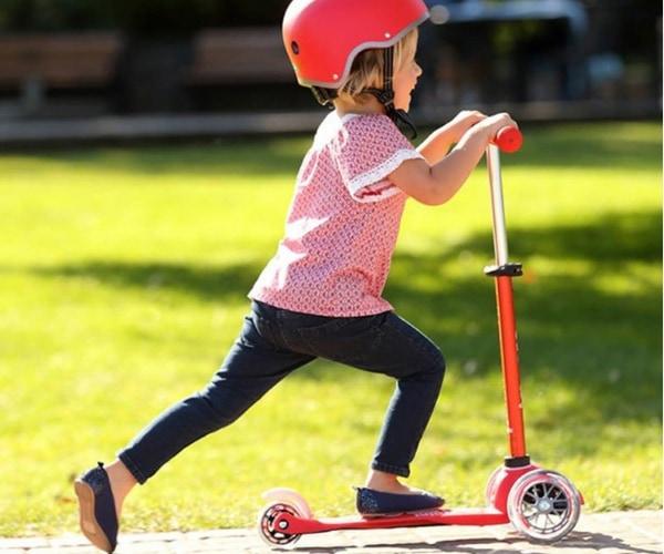 Laste tõukeratas Micro Mini Deluxe (punane), lastele 2-5 aastat