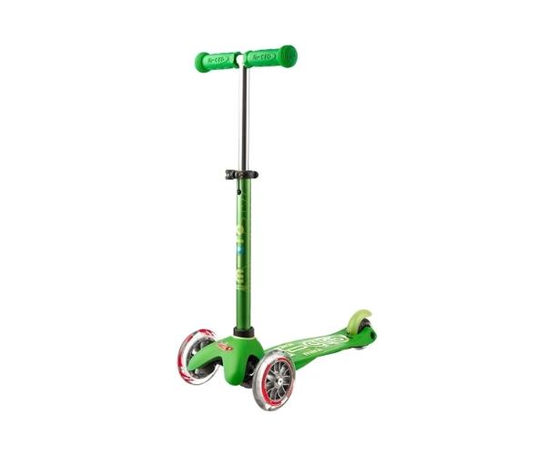 Laste tõukeratas Micro Mini Deluxe (roheline), lastele 2-5 aastat