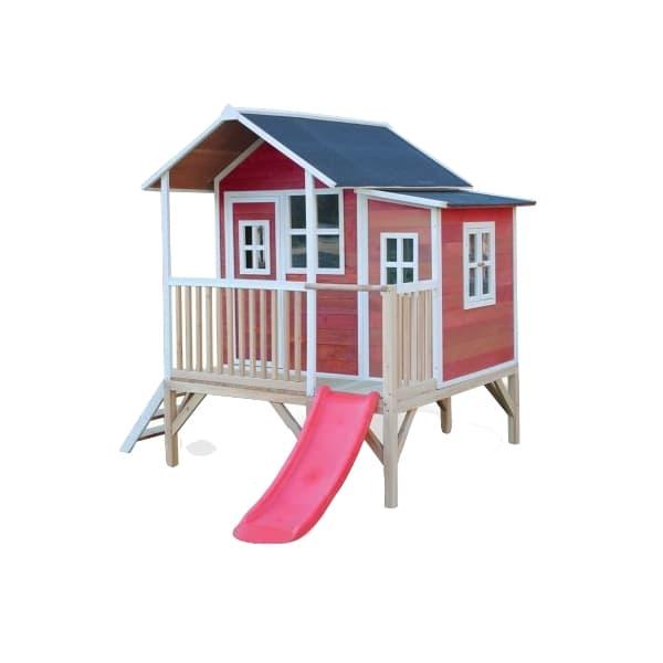 Mängumaja EXIT Loft 350 punane + liumägi 1,18m