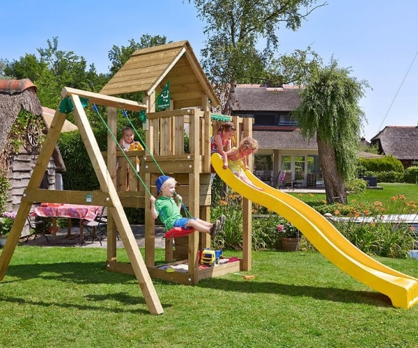 Mänguväljak Jungle Gym Cubby + kiigemoodul 1-Swing