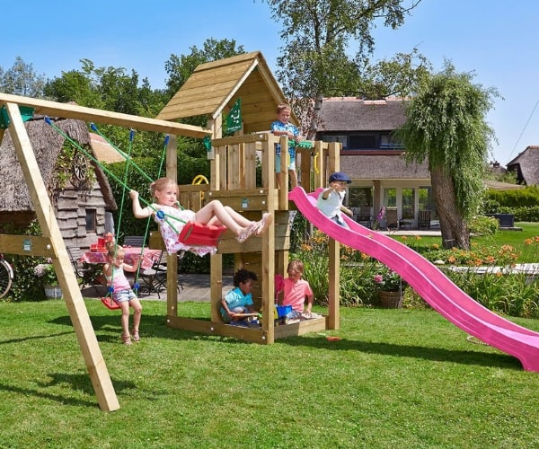 Mänguväljak Jungle Gym Cubby + kiigemoodul 2-Swing