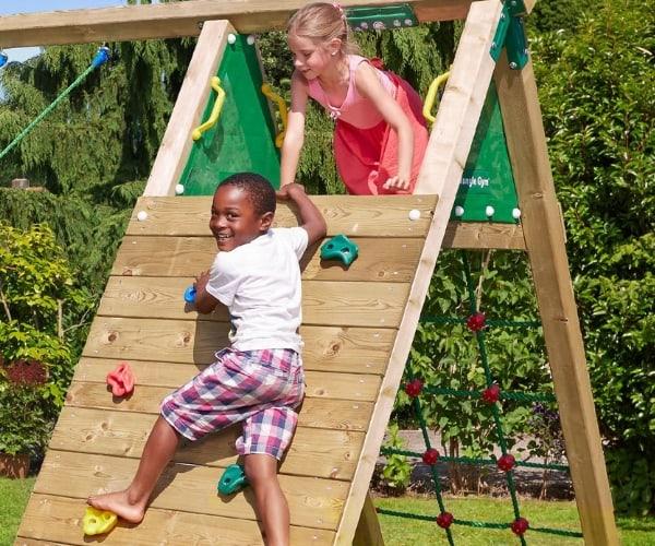 Mänguväljak Jungle Gym Cubby + ronimismoodul Climb