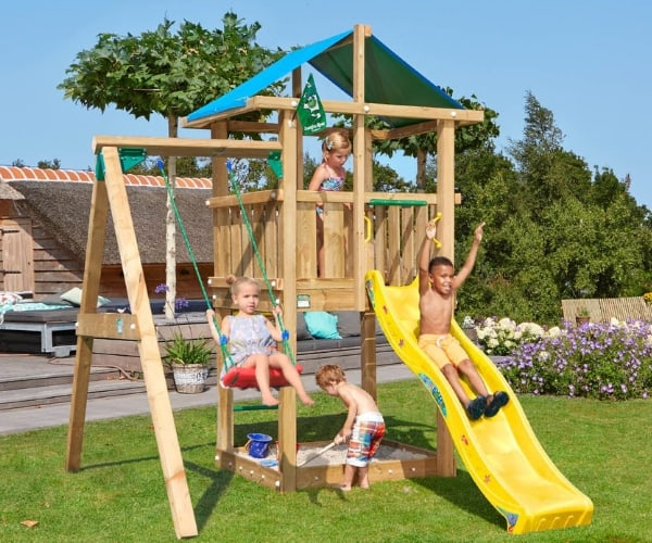 Mänguväljak Jungle Gym Hut + kiigemoodul 1-Swing