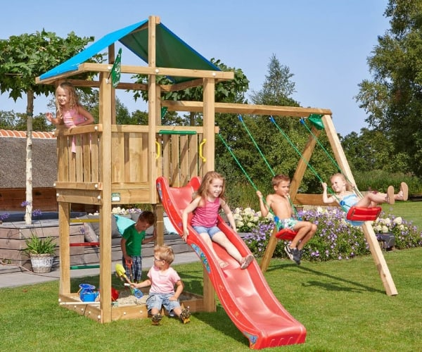 Mänguväljak Jungle Gym Hut + kiigemoodul 2-Swing