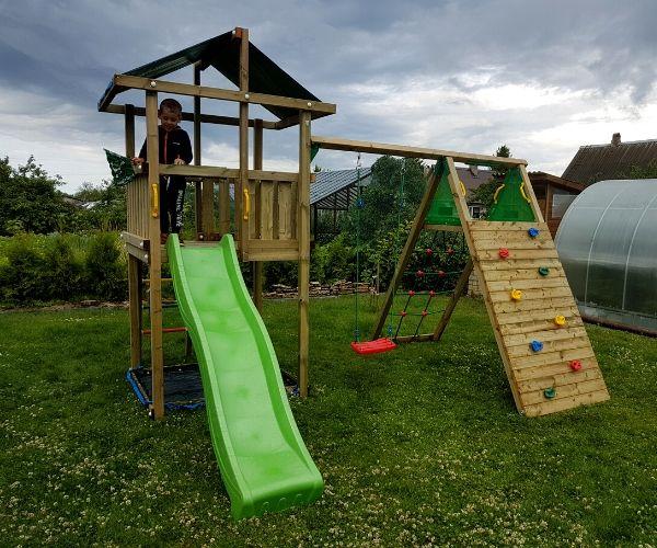 Mänguvaljak Jungle Gym Hut + ronimismoodul Climb