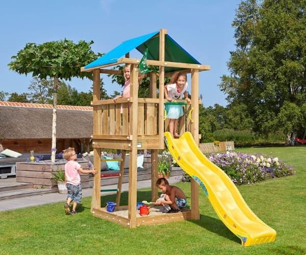 Tee ise mänguväljak: Mänguväljak Jungle Gym Hut (ilma puitmaterjalita)