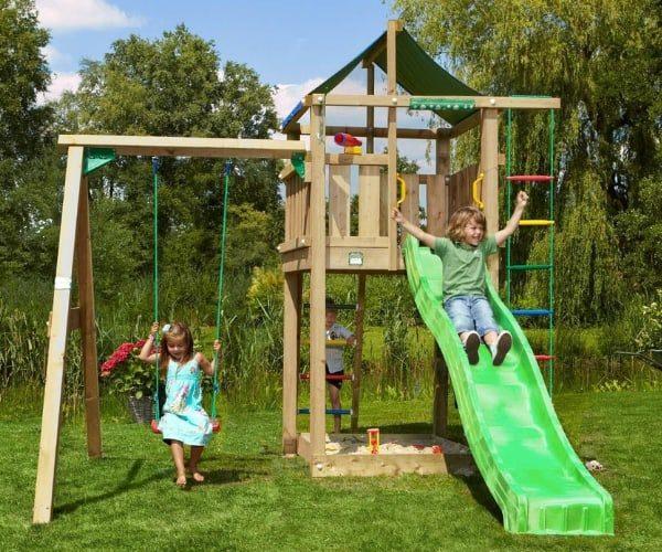Mänguväljak Jungle Gym + kiigemoodul Lodge 1-Swing