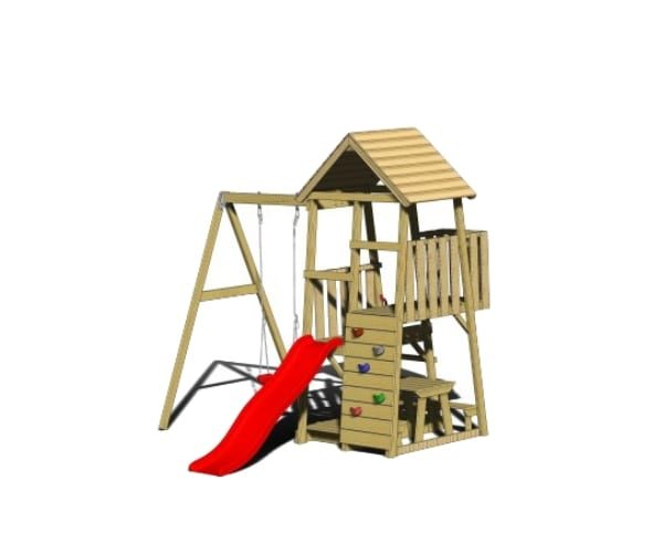 Mänguväljak Karl + kiigemoodul Swing-1 + piknikulaud