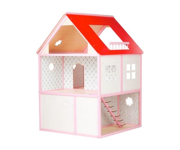 Puidust nukumaja Liisi Villa (kõrgus 101cm), roosa