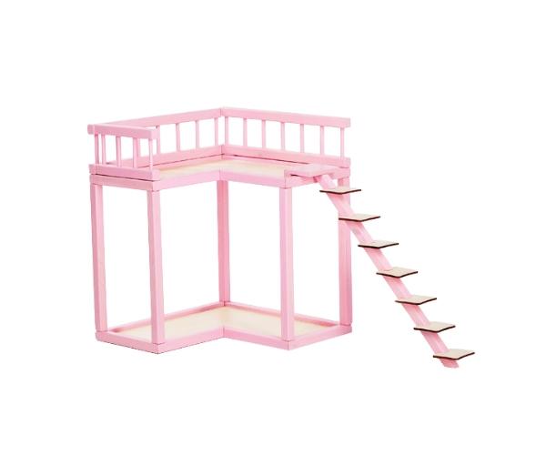 Rõdu nukumajale Liisi, roosa