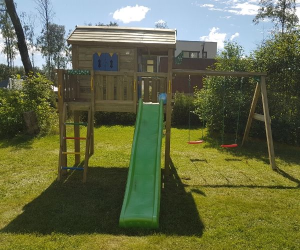 MÄNGUMAJA JUNGLE GYM JUNGLE XL + KIIGEMOODUL 2-SWING