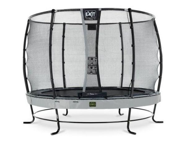Batuut 'Elegant Premium' Ø305cm + ohutusvõrk Deluxe ja vedrukate, hall