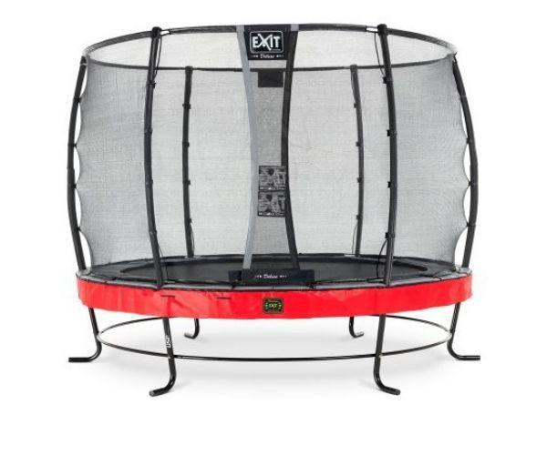 Batuut 'Elegant Premium' Ø305cm + ohutusvõrk Deluxe ja vedrukate, punane