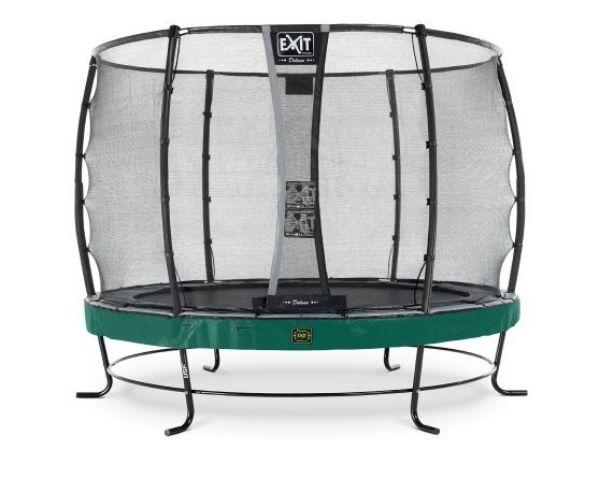Batuut 'Elegant Premium' Ø305cm + ohutusvõrk Deluxe ja vedrukate, roheline