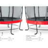 Batuut 'Elegant Premium' Ø427cm + ohutusvõrk Economy ja vedrukate, punane