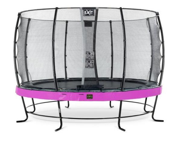 Batuut 'Elegant Premium' Ø427cm + ohutusvõrk Economy, vedrukate ja ankrud 4tk, roosa