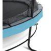 Batuut 'Elegant Premium' Ø427cm + ohutusvõrk Economy, vedrukate ja ankrud 4tk, sinine-3