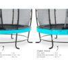 Batuut 'Elegant Premium' Ø427cm + ohutusvõrk Economy, vedrukate ja ankrud 4tk, sinine-5