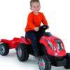 Smoby traktor pedaalidega Farmer XL + käru (punane)