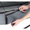 Batuut 'Elegant Premium' Ø366cm + ohutusvõrk Deluxe ja vedrukate, hall