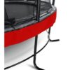 Batuut 'Elegant Premium' Ø366cm + ohutusvõrk Deluxe ja vedrukate, punane