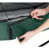 Batuut 'Elegant Premium' Ø366cm + ohutusvõrk Deluxe ja vedrukate, roheline