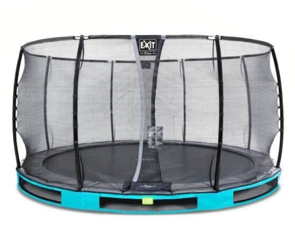 Batuut maapinnale 'Elegant Premium' Ø427cm + ohutusvõrk Deluxe + vedrukate, sinine