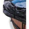 Katusega välibassein 'Stone ' ø300x76cm filterpumbaga, pruun